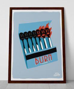 Burn Ilustración