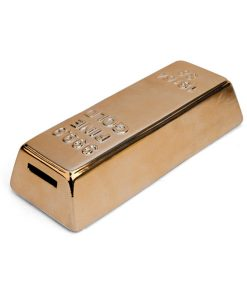Hucha de cerámica lingote de oro