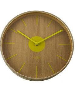 Reloj de Madera Amarillo Anti tic-tac Tokio 30