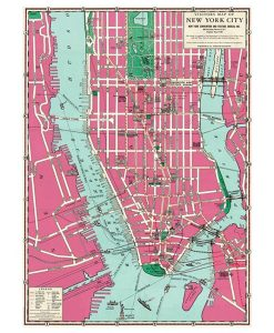 Papel de Regalo Mapa New York