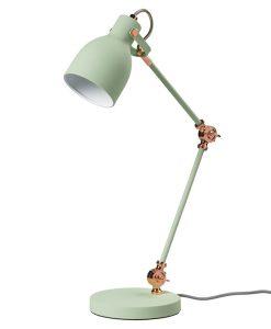 lámpara verde menta, mint, flexo.