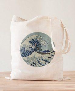 Tote Bag Stich en la Gran Ola de Kanagawa - Material Revolution