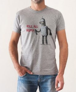 Camiseta Kill All Humans Chico Futurama