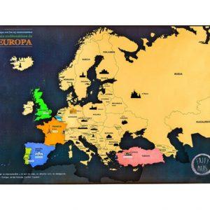 Mapa de Europa Para Rascar