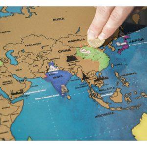 Mapa del Mundo de Rascar