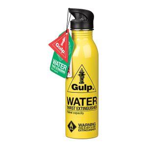 Botella de Agua Extintor Amarilla