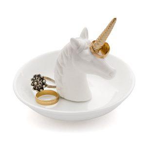 Porta Anillos Unicornio Blanco