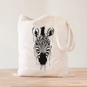 Tote Bag Zebra Acuarela