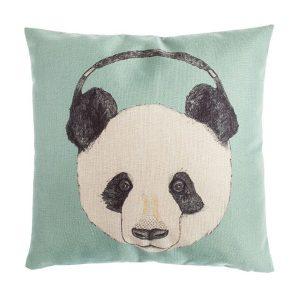 Cojín Oso Panda con cascos