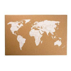 Mapa del Mundo de Corcho