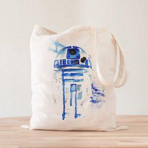Tote Bag R2D2 Acuarelas