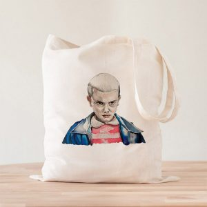 Tote Bag Eleven Stranger Things Acuarelas