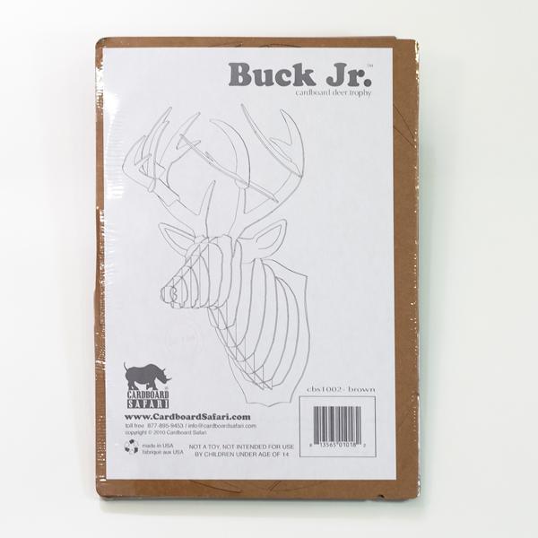 Ciervo mediano buck jr blanco material revolution - Cabeza ciervo carton ...