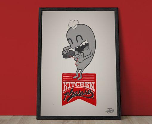 Ilustración Home Pleasures Kitchen
