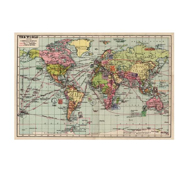Papel de regalo mapa del mundo material revolution - Papel pintado mapa del mundo ...