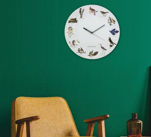 Reloj de Pared Pájaros con Sonido