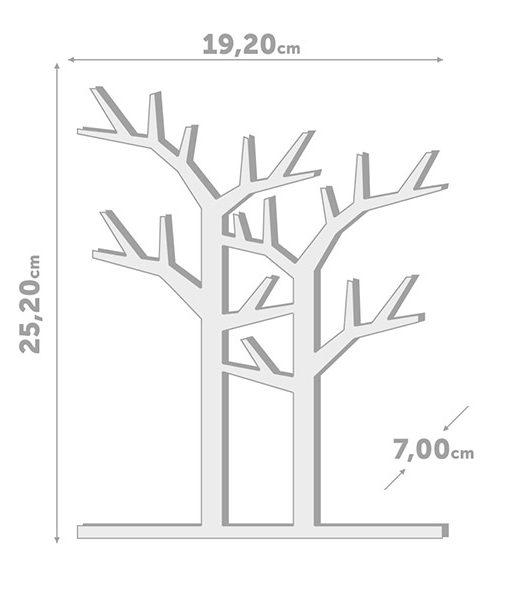 Medidas Joyero Soporte de Joyas Árbol Bosque