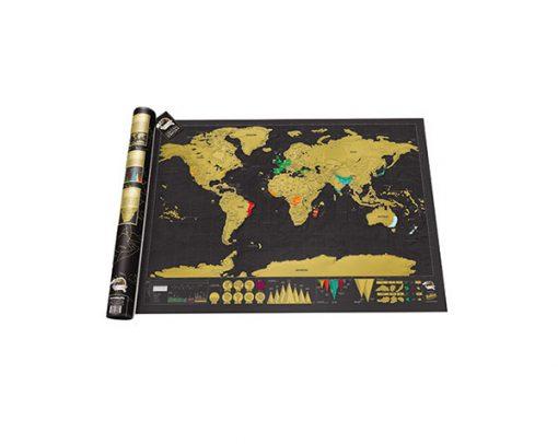 Mapa Para Rascar Edición Deluxe Scratch Map Deluxe Edition