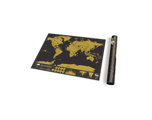 Mapa para Rascar Pequeño Scratch Map Deluxe Travel Edition