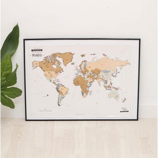 Mapa del Mundo Para Rascar en Español