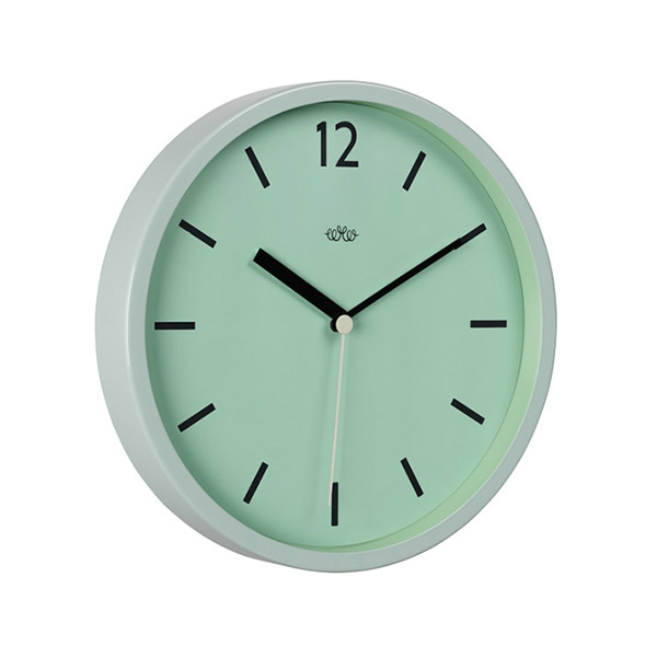 Reloj de pared retro verde menta de estilo industrial - Relojes de pared retro ...
