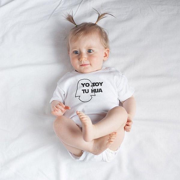 4149432eb Body Bebé Yo soy tu hija 100% Algodón Material Revolution
