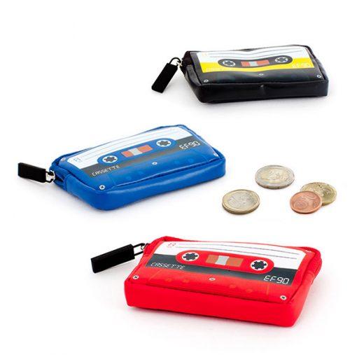Monedero retro cassette de polipiel