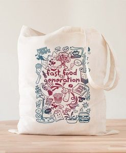 Tote Bag Fast Food Generation