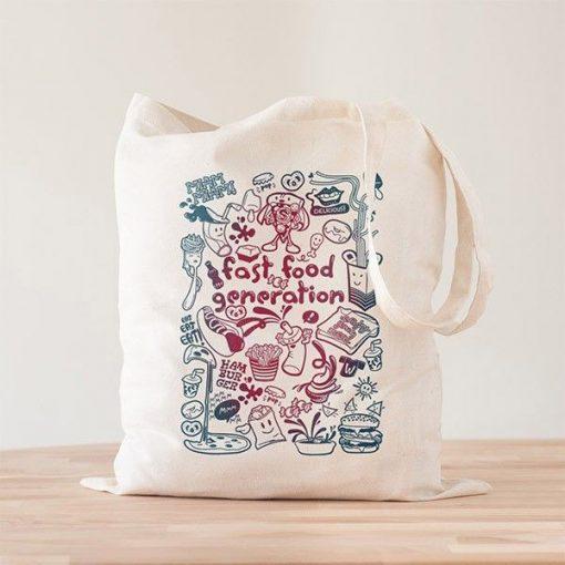 Tote Bag Fast Food Generation