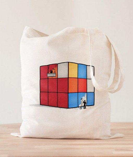 Tote Bag Solving Cube Rubik