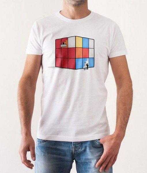 93707946a26 Camiseta Solving Cube Rubik Retro Ochentera 100% Algodón