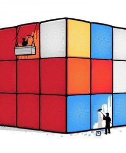 Bolsa De Tela Divertida Cubo Rubik