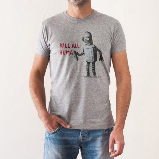 Camiseta Kill All Humans Chico Futurama