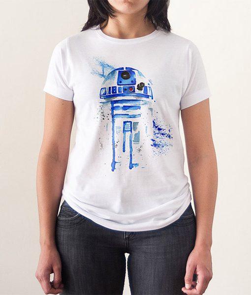 Camiseta R2D2 Acuarela Mujer