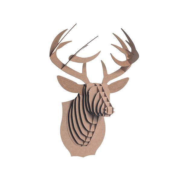 Cabeza de ciervo de cart n mediano buck jr material revolution - Cabeza ciervo carton ...