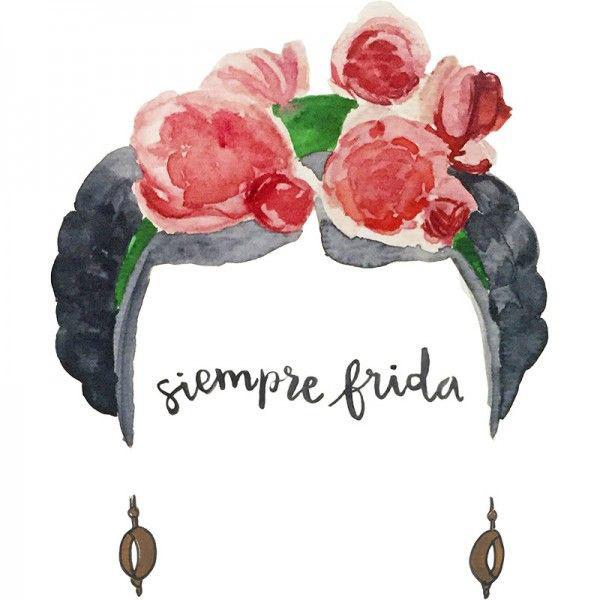 5cc99f5a064 Camiseta Siempre Frida Acuarelas