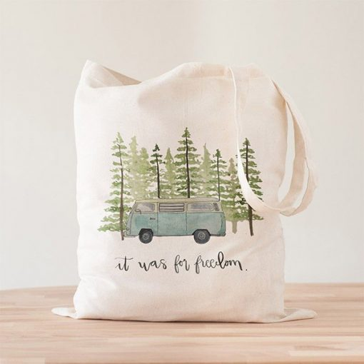 Tote Bag Blue Van Freedom
