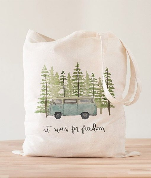 Tote Bag Blue Van Freedom