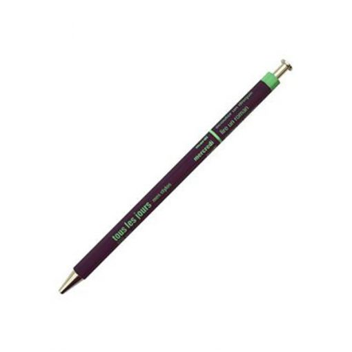 Bolígrafo de madera morado