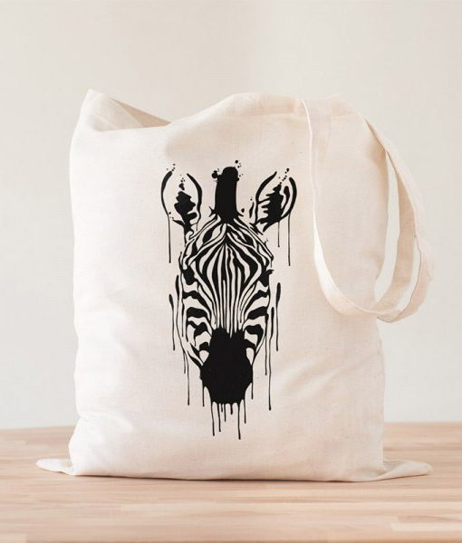 Tote Bag Cebra Acuarela Zebra