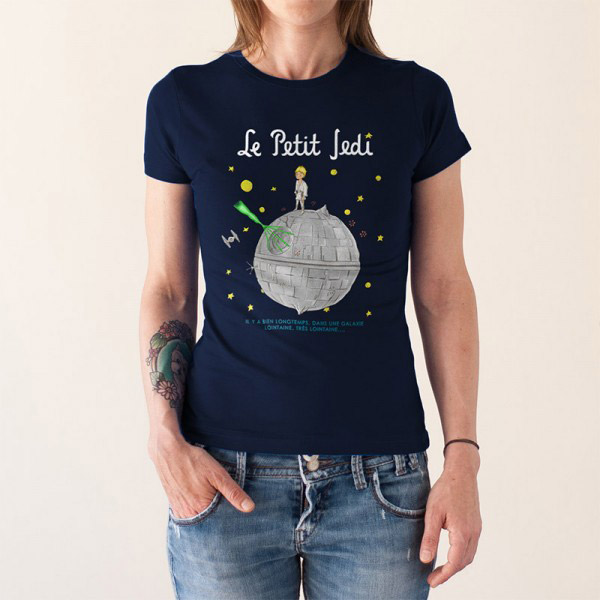 Petit Jedi Camiseta Mujer Azul Le tQsrdh