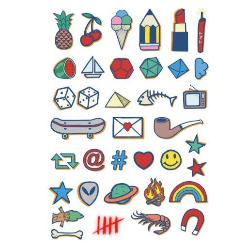 "Tatuajes Basics Colores ""Temporary Tattoos by Tattoonie"""