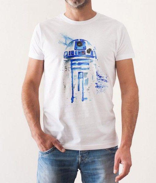 Camiseta R2D2 Acuarelas Hombre