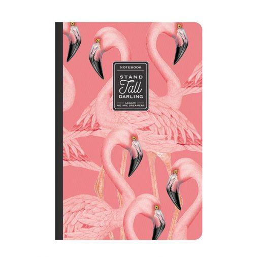 Cuaderno Flamencos Hojas Lisas