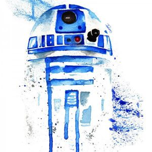 Tote Bag R2 D2 Acuarelas