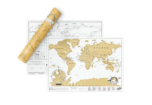Mapamundi para rascar Edición de Viaje Scratch Map Travel Edition