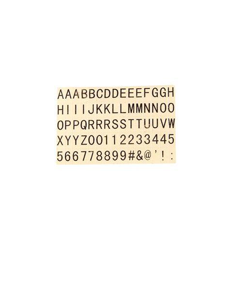 75 letras adhesivas para la Mini Lightbox
