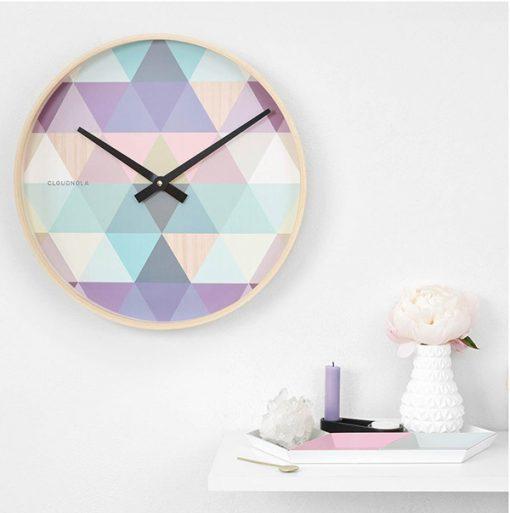 Clock Tonic Blue Wooden Cloudnola