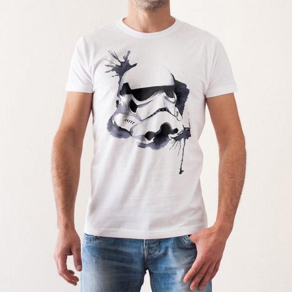 6936999404 Camiseta Stormtrooper Acuarelas