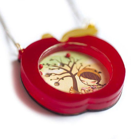 Collar Manzana Roja | Juego de Bolitas |